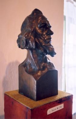 Husova busta od Ladislava Šalouna